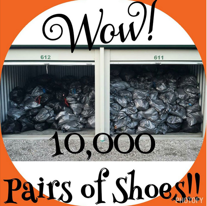 Visual of 10,000 shoes